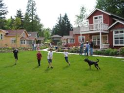 Shared recreational open space in a residential subdivision