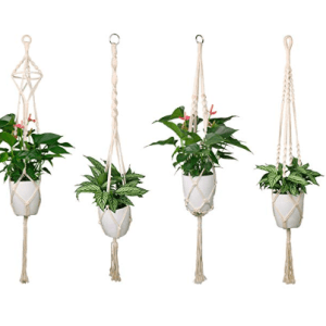 Luxbon Macrame Plant Hanger Set Apartment Living [tag]