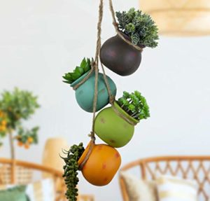Hanging Pots For Succulent Plants Multicolor Ceiling Wall Air Flower Planters Indoor Outdoor 0