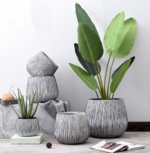 Felipe Round Concrete Pot Planters Apartment Living [tag]