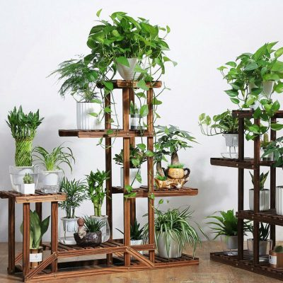 5 Tier Wooden Pot Stand Apartment Living