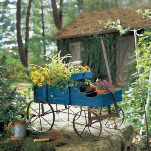 Indoor Outdoor Planter Wagon Gift Ideas [tag]