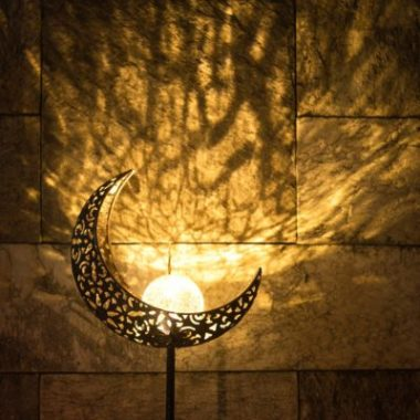 Crescent Moon Solar Light Apartment Living