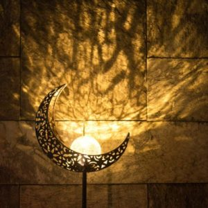 Crescent Moon Solar Light Apartment Living [tag]