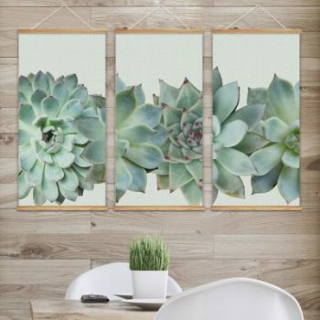Succulent Inspired Scrolls Apartment Living