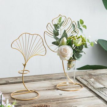 Leaf Design Test Tube Planter Accessories and Curiosities