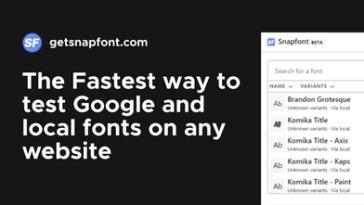 get snap font