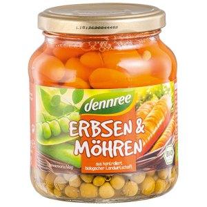 Βιολογικός αρακάς & καρότα σε βάζο Dennree