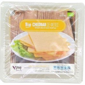 βιολογικό τυρί cheddar σε φέτες