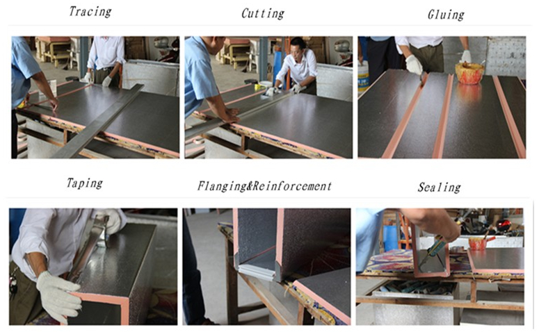 PIR Pre-insulated Duct Fabrication