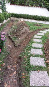 Primo step: scavo del tracciato