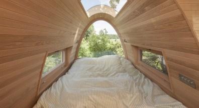 Schlafen in den Bäumen. Der Traum kann Wirklichkeit werden. (Foto: Baumraum / Markus Bollen)