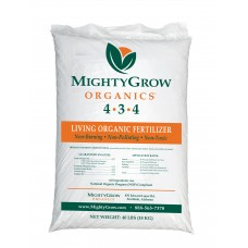 a bag of organic fertilizer