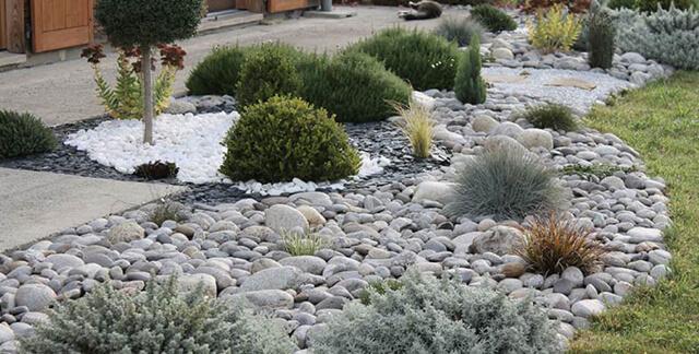 20 Rocking Landscaping Ideas with Rocks (Front Yard ... on Rocks In Backyard  id=51648
