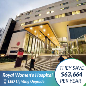 Royal Womens Hospital - LED Lighting Case Study - The Green Guys Group