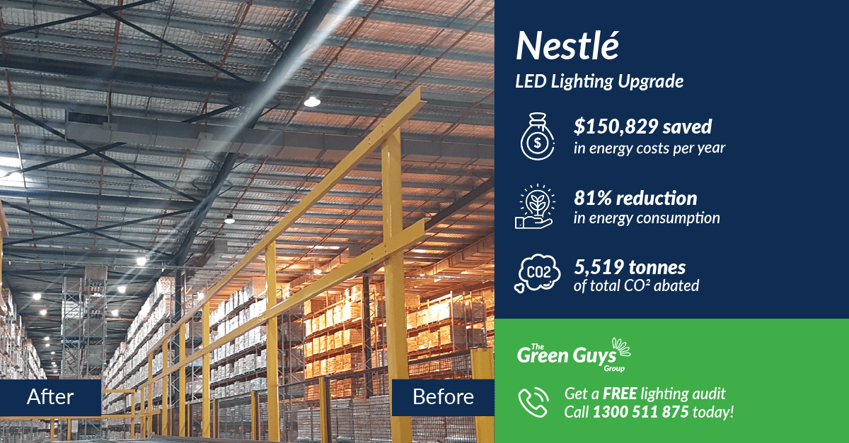 The Green Guys Group - LED Lighting Upgrade - Nestle