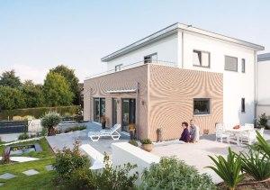 fertighaus mit hanglage greenhome. Black Bedroom Furniture Sets. Home Design Ideas