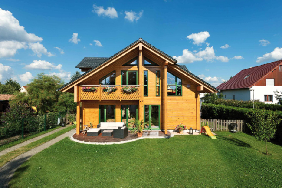 blockhaus bauen greenhome. Black Bedroom Furniture Sets. Home Design Ideas