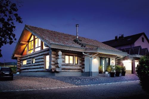 Naturstammhaus Für Modernes Wohnen