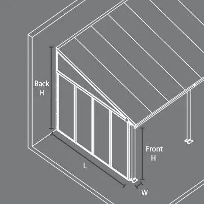 palram feria 3m patio cover in 7 lengths