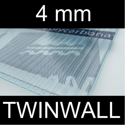 4mm Twinwall Polycarbonate LARGE SHEETS Greenhouse Warehouse