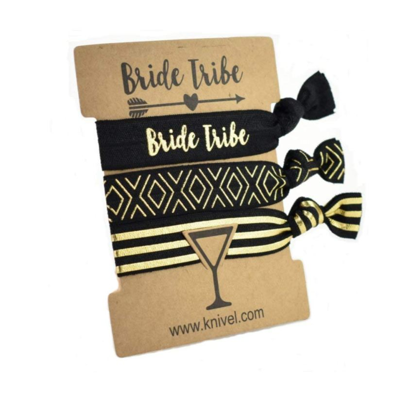 Bridal shower hair tie favors and game prizes