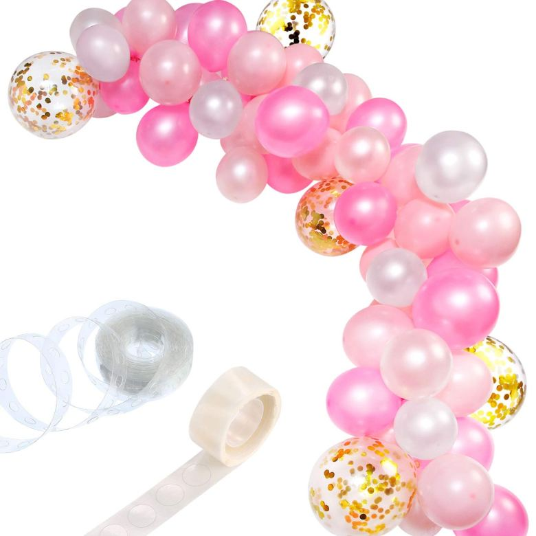 Balloon garland is the perfect bridal shower idea