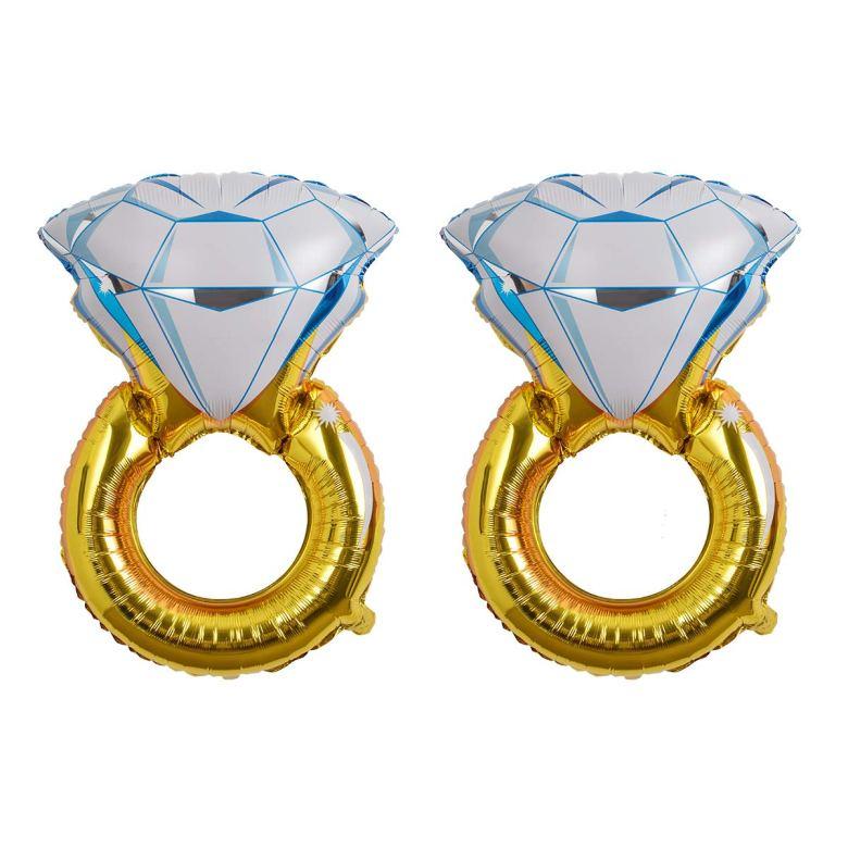 Diamond rings balloons