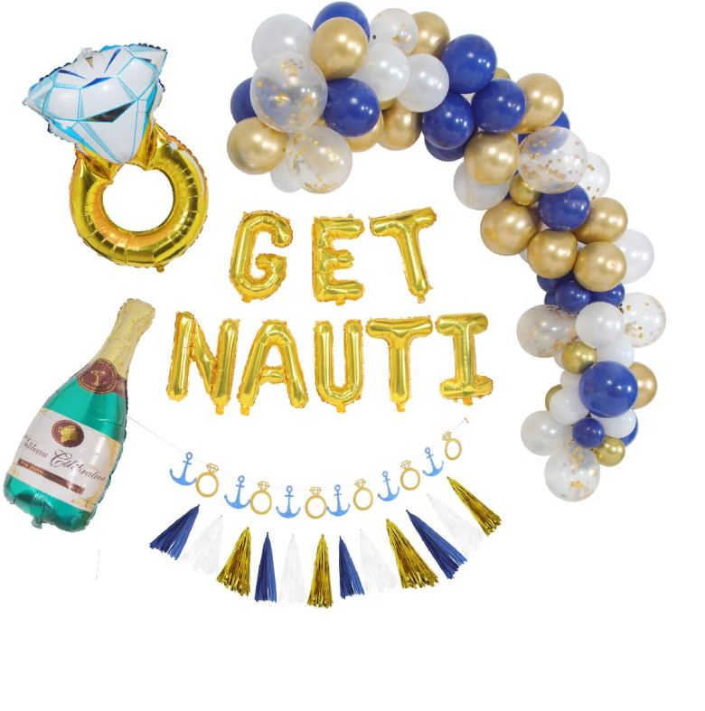 Nautical bachelorette theme decorations