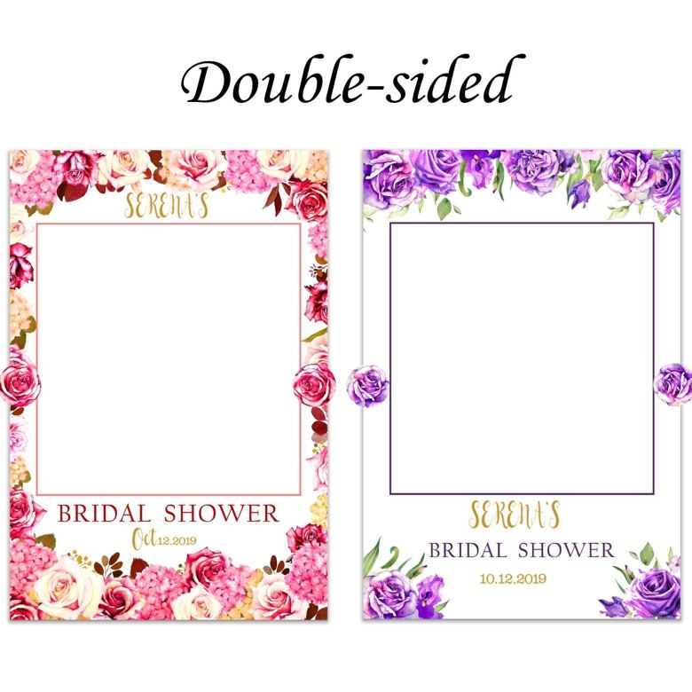 Double sided photo booth frame