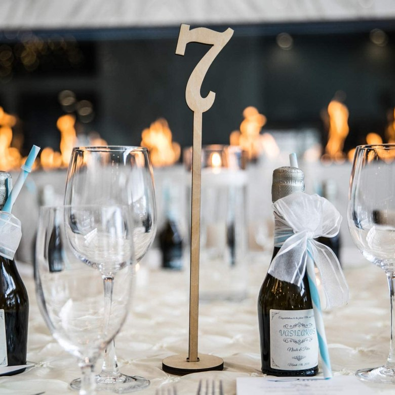 Wooden Wedding Table Numbers 1 – 50