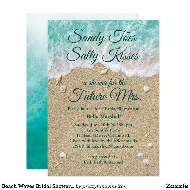 Pool invites for coed bridal shower