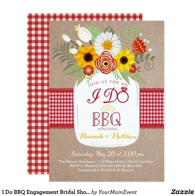 BBQ coed shower invitation