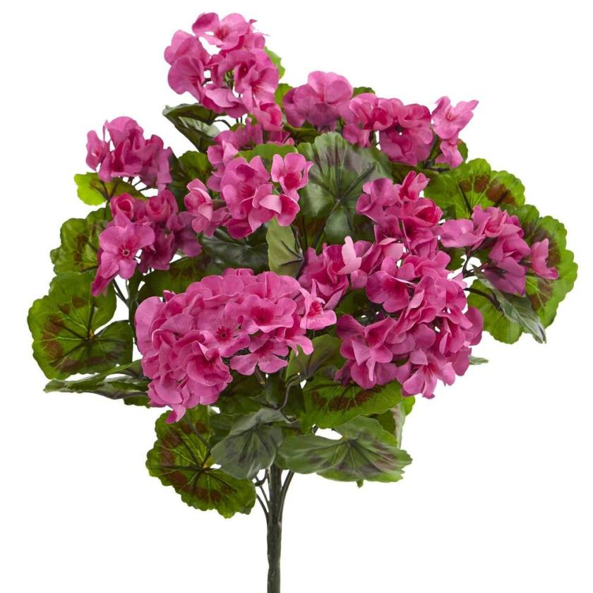 Artificial geranium bush