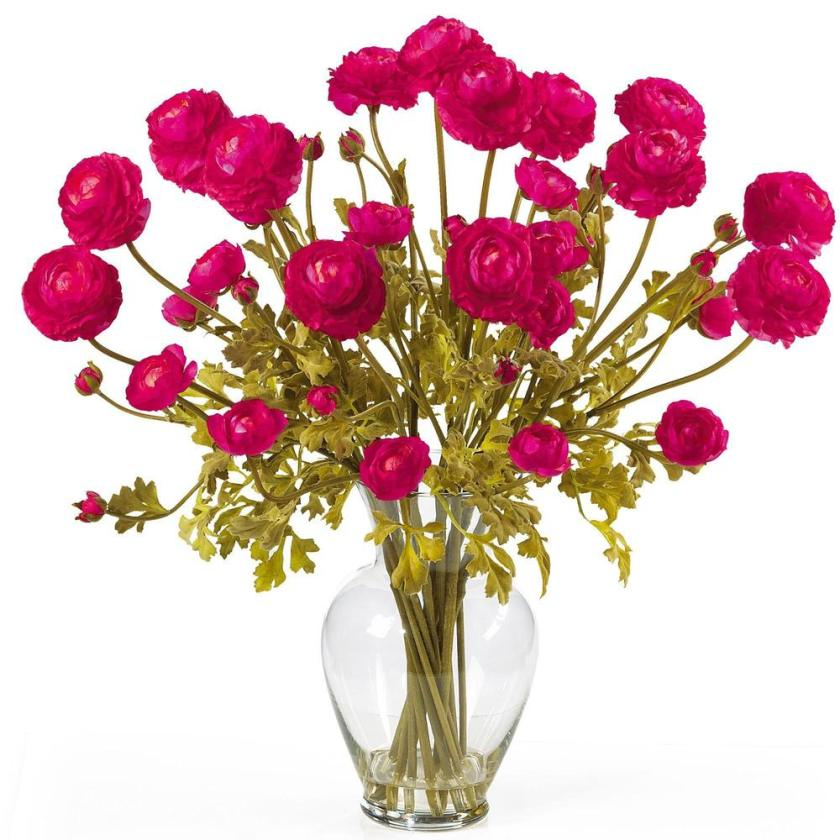 Artificial ranunculus flower arrangement