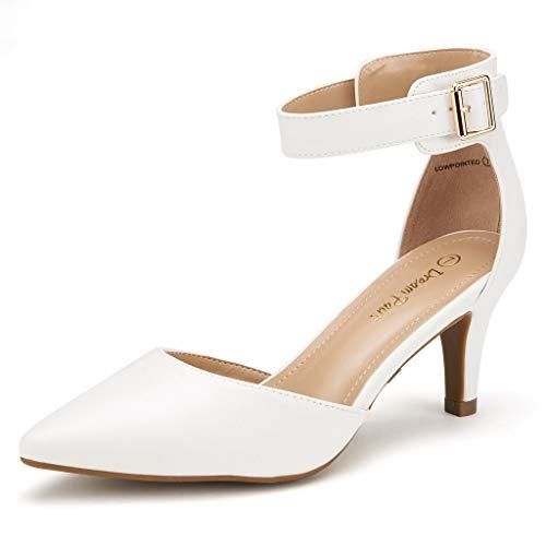 Dream Pairs Women's Low Heel Wedding Shoes for Bride