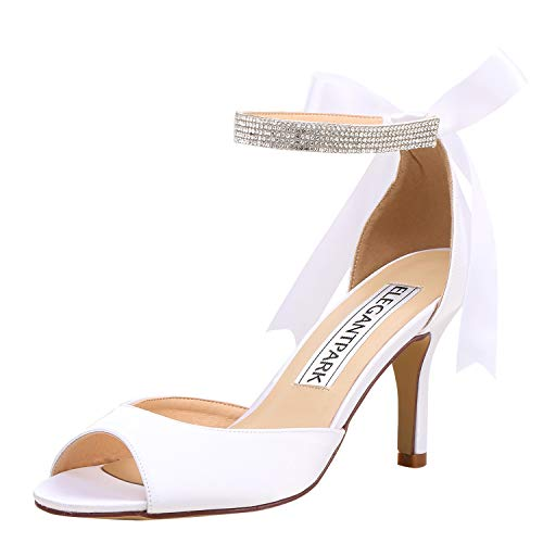 ElegantPark Women Peep Toe Heel Sandals