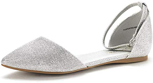 Dream Pairs Women's D'Orsay Ballet Flats Wedding Shoes for Bride