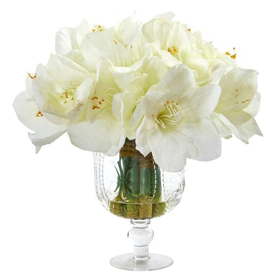 Amaryllis bouquet artificial flowers for wedding