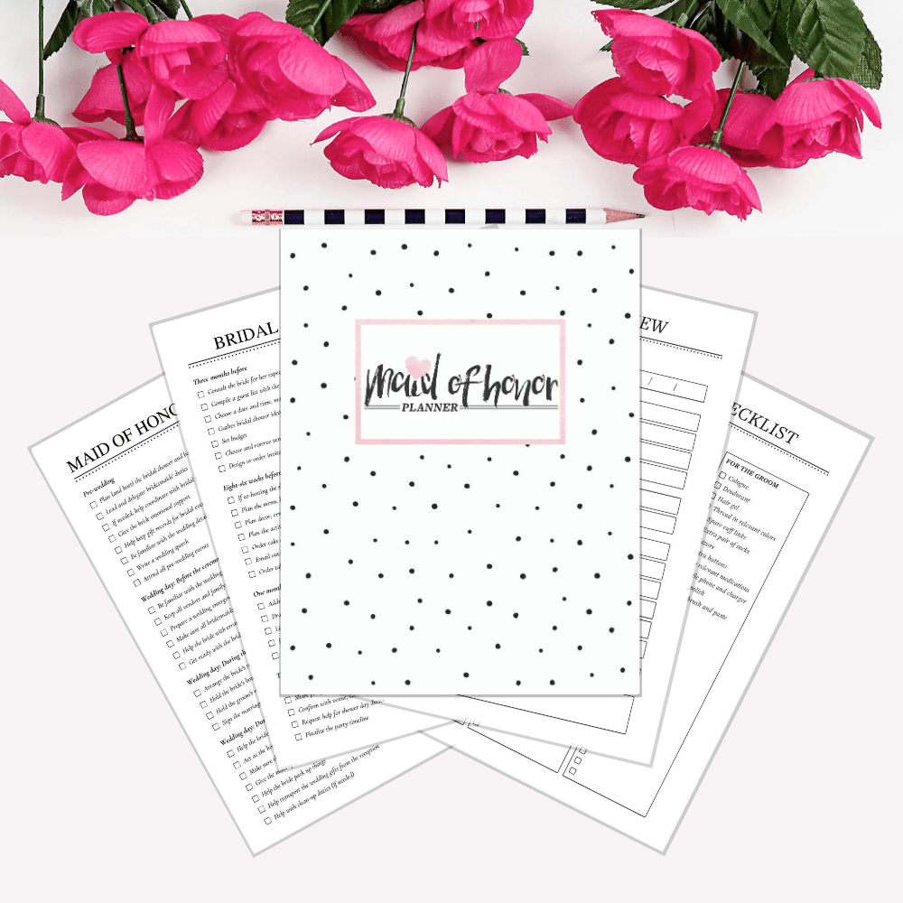 Maid of honor planning binder