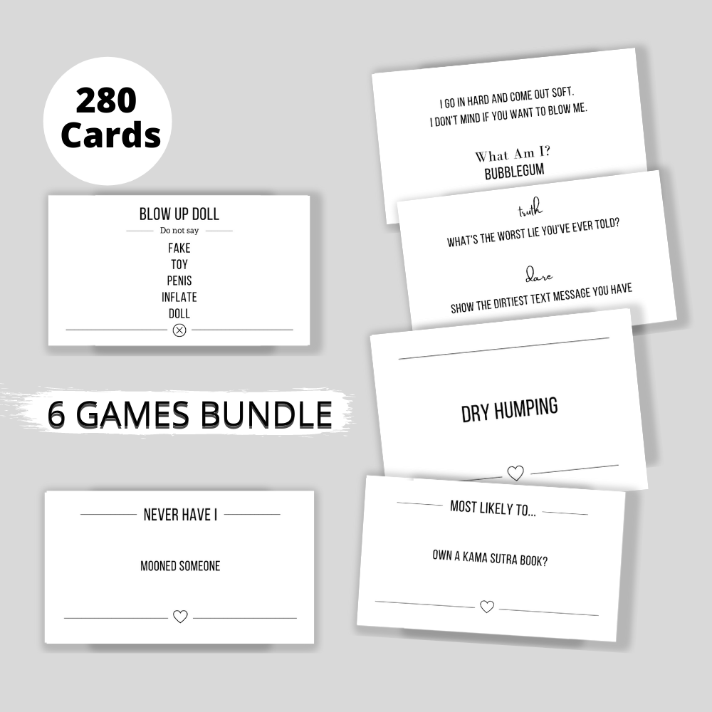 Naughty bachelorette party games bundle