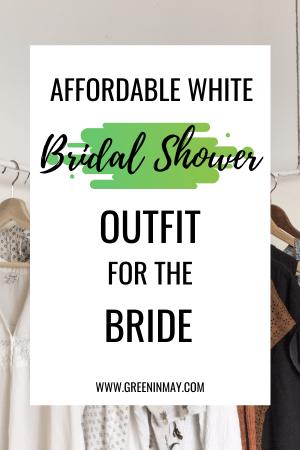Inexpensive white bridal shower dresses for bride