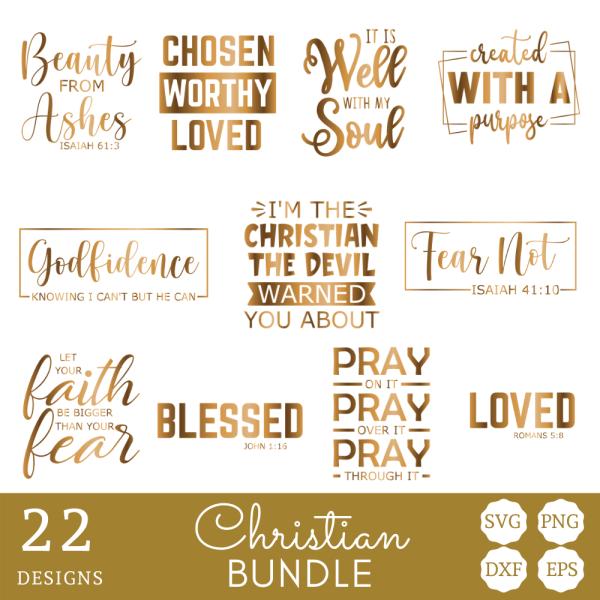 Christian SVG bundle