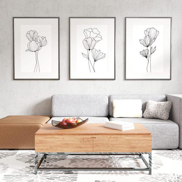 Flower Line Art Prints