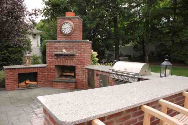 brick patio with outdoor kitchen Outdoor Kitchens & Bars | Outdoor Kitchens Long Island