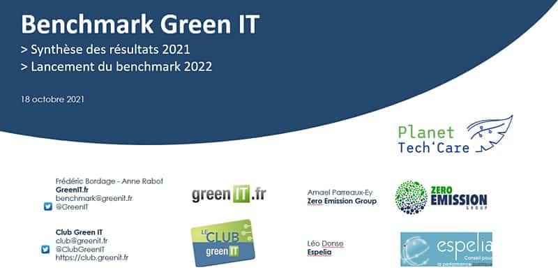 Benchmark Green IT 2021