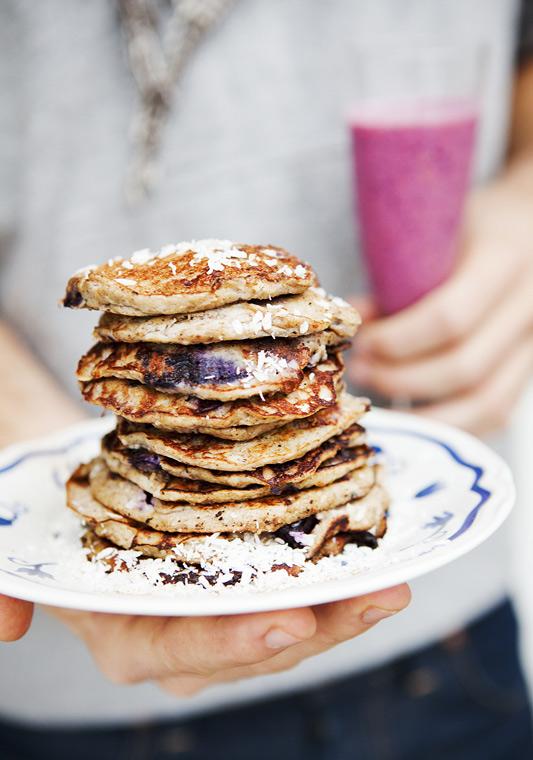 Green Kitchen Stories » Flour Free Banana & Blueberry Pancakes