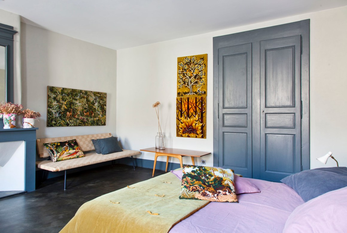 "Chambre ""5"", maison Le 35 Mai en Ardèche. © Elodie Rothan"