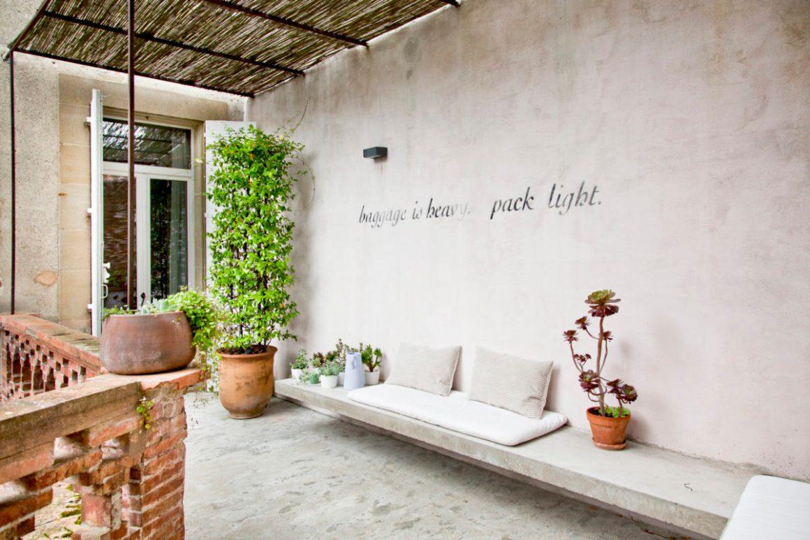 Terrasse de la maison Camellas Lloret.