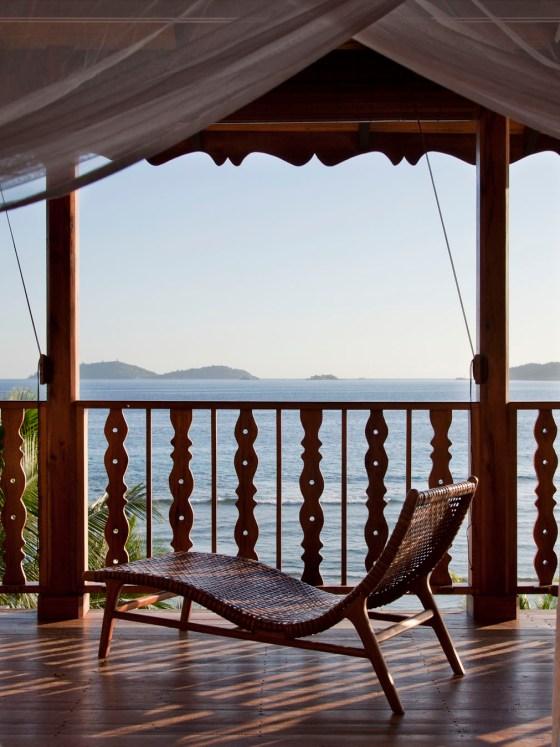 La terrasse de la maison Lakaz An Bwa. © Elodie Rothan